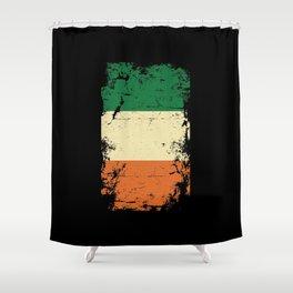 Distressed Ireland Irish Flag St Patricks Shower Curtain