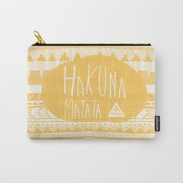 Hakuna Matata Yellow Carry-All Pouch