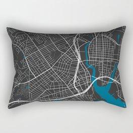 Bridgeport city map black colour Rectangular Pillow