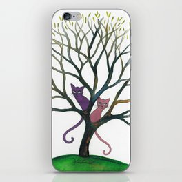 Maryland Whimsical Cats in Tree iPhone Skin