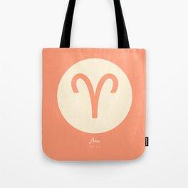 Aries Symbol Pink Tote Bag