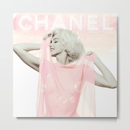Marilyn - Home Decor - Monroe - Fashion - Bubblebath Metal Print