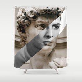 Michelangelo's David & Marlon Brando Shower Curtain