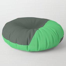 Dark Grey & Bright Green - oblique Floor Pillow