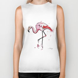 Cute flamingo Biker Tank