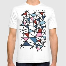 Segment Pink and Blue Mens Fitted Tee White SMALL