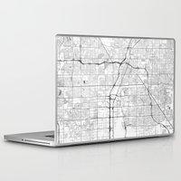 las vegas Laptop & iPad Skins featuring Las Vegas Map Gray by City Art Posters
