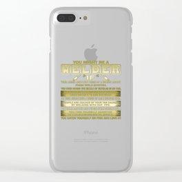 Welder Clear iPhone Case