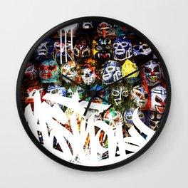 Graffiti Luchadores Wall Clock