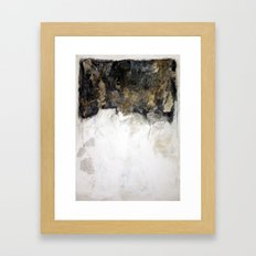 big black Framed Art Print