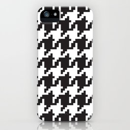Houndstooth - Black & White iPhone Case