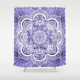 Mandala Lavender Colorburst Shower Curtain