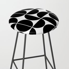 Mid Century Modern Geometric 04 Black Bar Stool