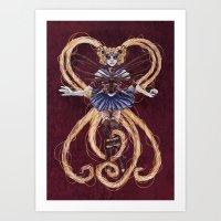 "sailormoon Art Prints featuring Steampunk Sailormoon by Barbora ""Mad Alice"" Urbankova"