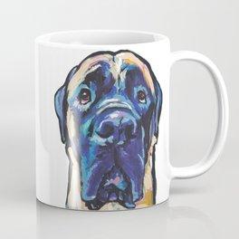 Fun ENGLISH MASTIFF Dog bright colorful Pop Art Painting by LEA Coffee Mug