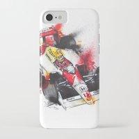 senna iPhone & iPod Cases featuring Senna, a true hero. by Claeys Jelle Automotive Artwork