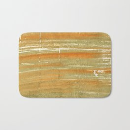 Aztec Gold abstract watercolor Bath Mat
