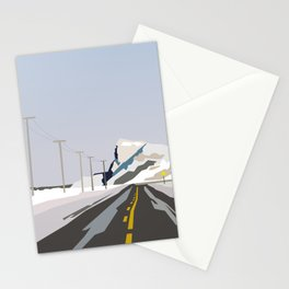 Winter road. Stationery Cards