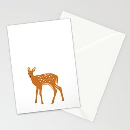 Baby Deer and Snow Stationery Cards