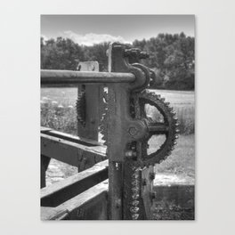 Gears and grease Canvas Print
