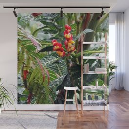 Tropical Heliconia Flowers 03 Wall Mural