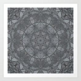 Mandala of My Indigo Light Art Print