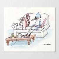 regular show Canvas Prints featuring Regular Show by Osbaston