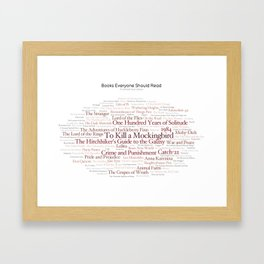 Books Everyone Should Read (Original-version) Framed Art Print
