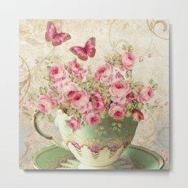 Tea Flowers #4 Metal Print