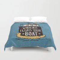 quotes Duvet Covers featuring Quotes by Ronan Lynam