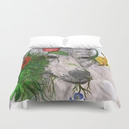 """""""Wolf's Law"""" by Cap Blackard Duvet Cover"""