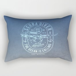 The Ocean Is Calling And I must Go Scuba Diving Rectangular Pillow