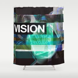 Vision (mixed media) Shower Curtain