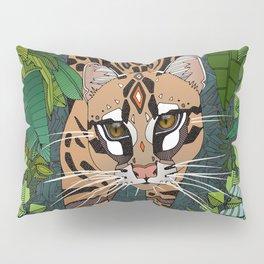 ocelot jungle nightshade Pillow Sham
