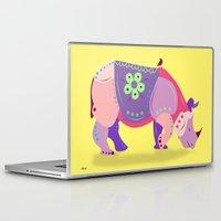 rhino Laptop & iPad Skins featuring Rhino by mark ashkenazi