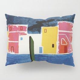 Procida Napels Italy retro vintage travel ad Pillow Sham