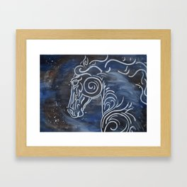 Horse and Stardust Framed Art Print
