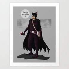 Hey Kitty Bat Art Print
