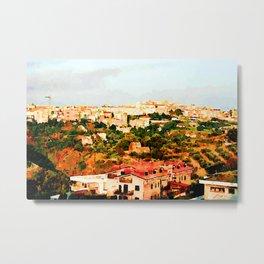 Catanzaro: view of the city Metal Print