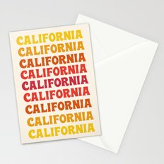 Stylin' - 70's retro throwback cali socal 1970s style art decor minimalist Stationery Cards