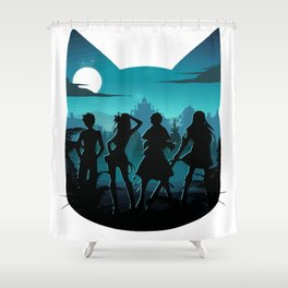 Happy Silhouette Shower Curtain