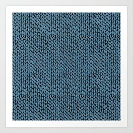 Hand Knit Niagra Blue Art Print