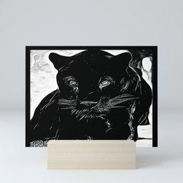Big Cat Models: Black Panthers: Sasha 01-01 Mini Art Print