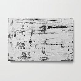 Distressed Grunge 102 B&W INVERSE Metal Print
