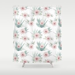 Cactus Rose Succulent Garden Shower Curtain