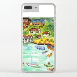 Day at the Harbor Clear iPhone Case