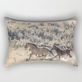 Running Mustangs, No. 1 Rectangular Pillow