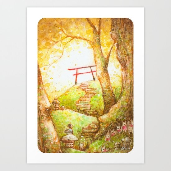 Babu at the Torii Art Print