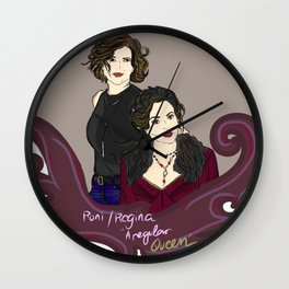Hyperion Heights Roni & Enchanted Realm Regina - Once Upon A Time Wall Clock