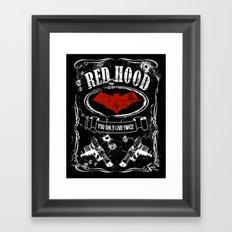 RED HOOD  label whiskey style Framed Art Print